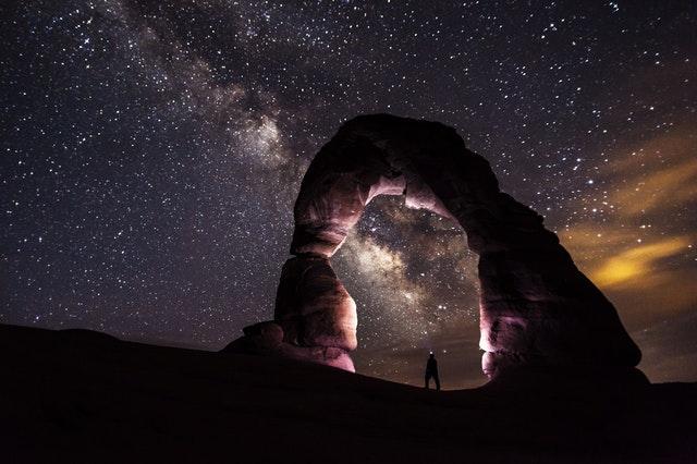 foto di cielo stellato regalare una stella